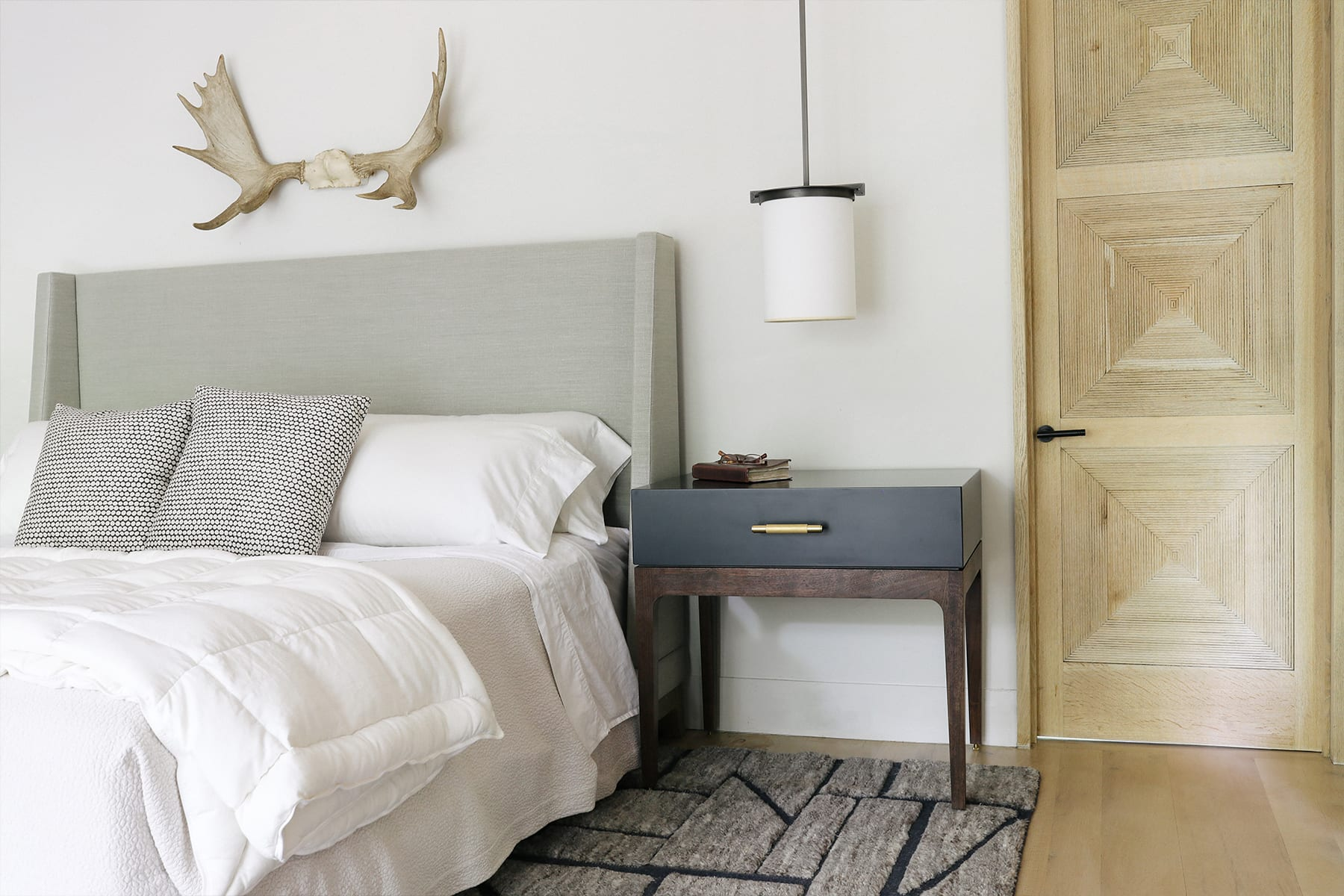 Robin Bedside Table by Facet Furniture in home