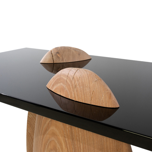 Eisberg Entry Table by Facet Furniture top details