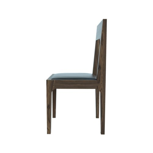 High Back Pure Walnut Chair side view