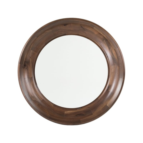 Walnut Scoop Mirror front view