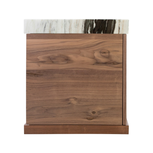 Prodigieux Credenza by Facet Furniture side view with wood grain