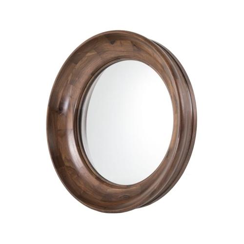 Walnut Scoop Mirror side view