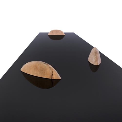 Eisberg Entry Table by Facet Furniture - Glossy Black Table